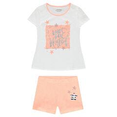 Junior - Jersey pajamas with shiny print and stars