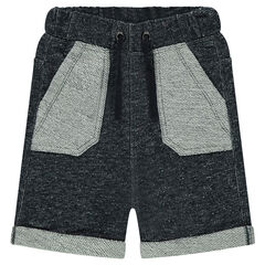 Heathered fleece bermuda shorts