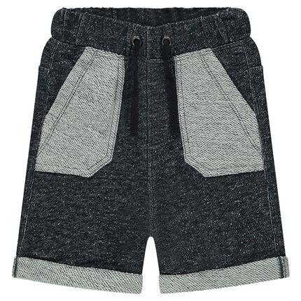 Heathered fleece bermuda shorts