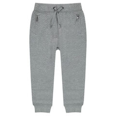 Sweatpants in ottoman fleece