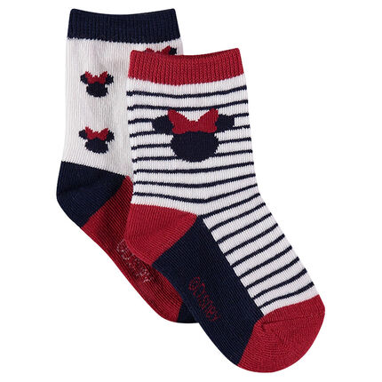 Set of 2 pairs of assorted socks with ©Disney Minnie Mouse motif