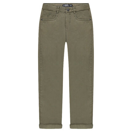 Plain twill trousers