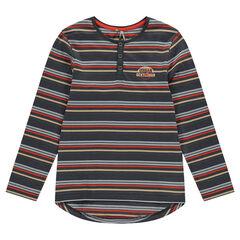 Junior - Long-sleeved shirt-style tee-shirt