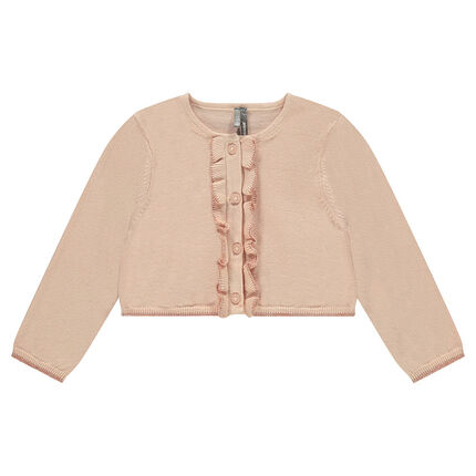 Knit cardigan with frills
