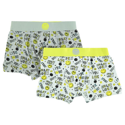 Set of 2 boxers with ®Smiley printed all over.