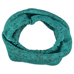 Snood in twisted knit fabric and microfleece