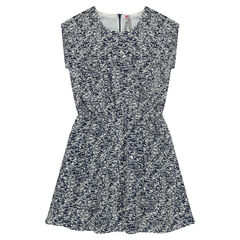 Short-sleeved dress with an allover print