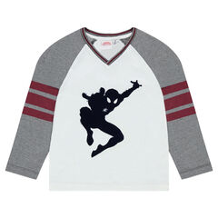 Tee-shirt with long raglan sleeves and ©Marvel Spiderman print