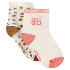 Set of 2 pairs of trendy socks