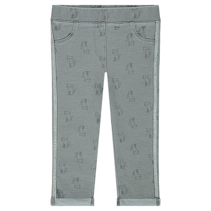 Jeggings with printed cats