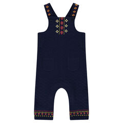 Fleece overalls and embroidery