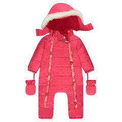 Micropolar lined ski jumper with detachable hood