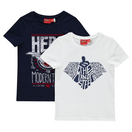 Junior - Set of 2 short-sleeved tee-shirts with DC Comics Superman print