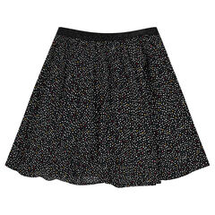 Junior - Printed skirt with sparkly waistband