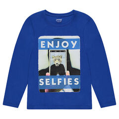 Junior - Long-sleeved jersey t-shirt with print fantasy