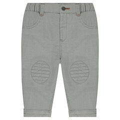 Cotton pants with patch pockets