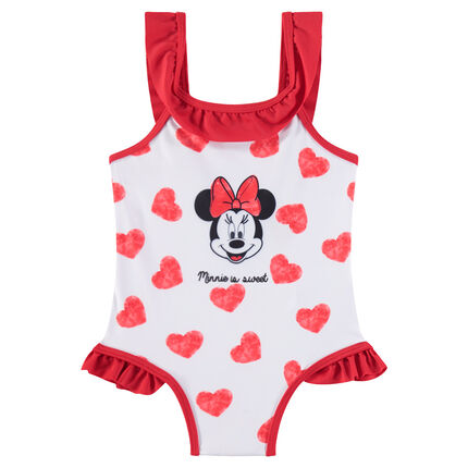 1-piece swimsuit with hearts and ©Disney Minnie Mouse print