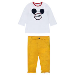 Reversible Long Sleeve Mickey T-Shirt Set with Velvet Pants