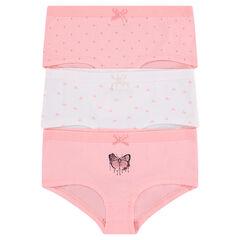 Junior - Set of 3 matching cotton shorties