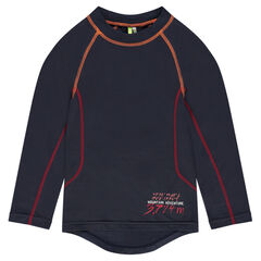 Tee-long sleeves in polyester with raglan sleeves