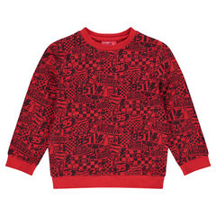 Fleece sweatshirt featuring allover Disney/Pixar® Cars print