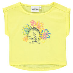Short-sleeved tee-shirt featuring Lonney Tunes Tweety Bird
