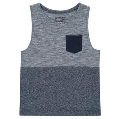 Trendy jersey tank top with pocket