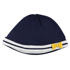Jersey cap with bow
