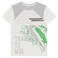 Short sleeve t-shirt with sporty spirit print