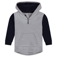 Junior - Geometric Ottoman Fleece Hoodie