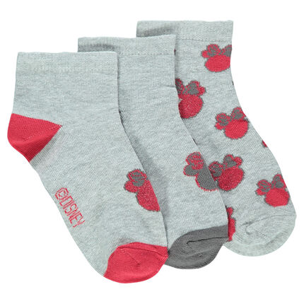 Set of 3 pairs of socks with Disney Minnie Mouse motif