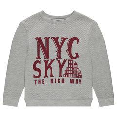 Fleece sweatshirt with print