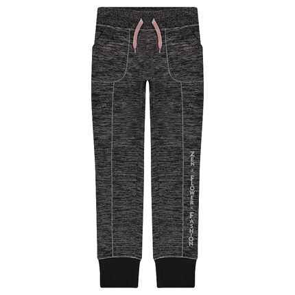 Junior - fine gauge knit sweatpants with printed message
