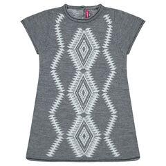 Jacquard sweater dress