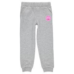 Junior - Fleece jogging pants with decorative print