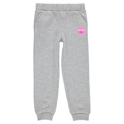 Junior - Fleece jogging pants with decorative print