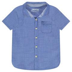 Chemise manches courtes avec poche plaquée
