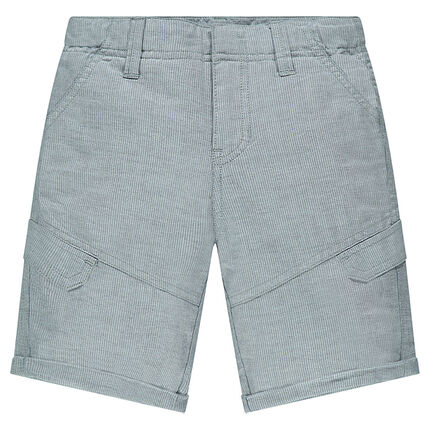 Junior - Trendy poplin bermuda shorts with pockets