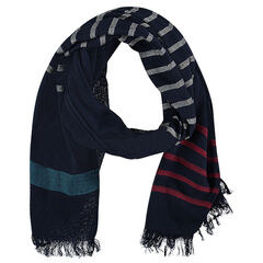 Tagelmust with contrasting stripes and fringes