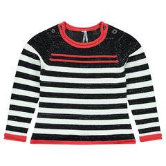 Junior - Striped knit sweater