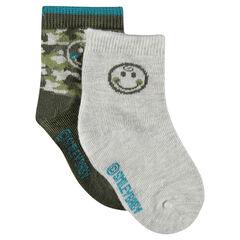 Set of 2 pairs of ©Smiley socks