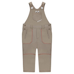 Fancy cotton dungarees with printed details
