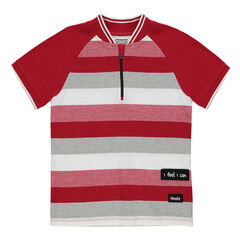 Junior - Short-sleeved polo shirt with a zipped collar