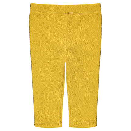 Fancy jersey leggings with golden piping at the sides
