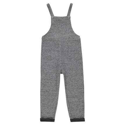 Long overall in heathered fleece