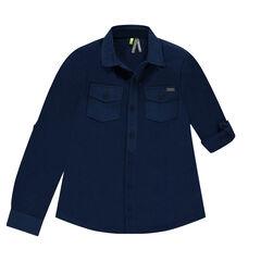 Long-sleeved polo shirt in piqué cotton