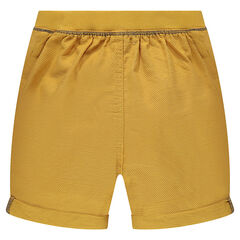 Canvas bermuda shorts with a twill label