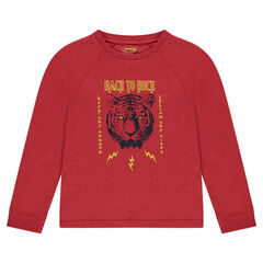 Junior - Tiger Print Long Sleeve T-Shirt