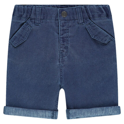 Bermuda shorts in woven cotton