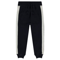 Fleece jogging pants with kangaroo pocket